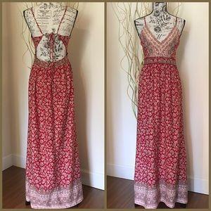 Forever 21 Paisley print boho maxi dress